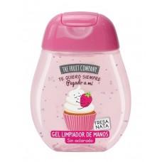 10 UNIDADES de gel desinfectante de manos THE FRUIT COMPANY fresa y nata 45 ml