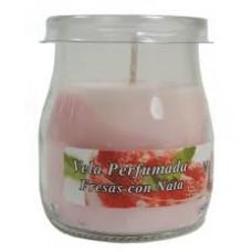 Velas perfumadas LUMAR fresas con nata
