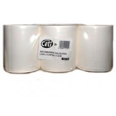 6 bobinas celulosa secamanos lisa 120m