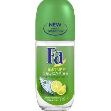 Desodorante FA limones del caribe roll on 50 ml