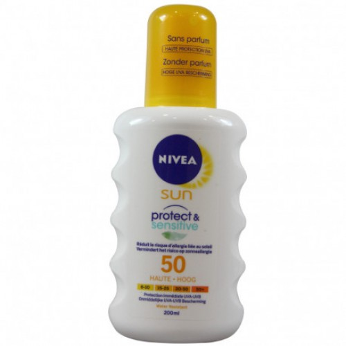 Bronceador NIVEA SUN PROTECT & SENSITIVE FPS 50 200 ml